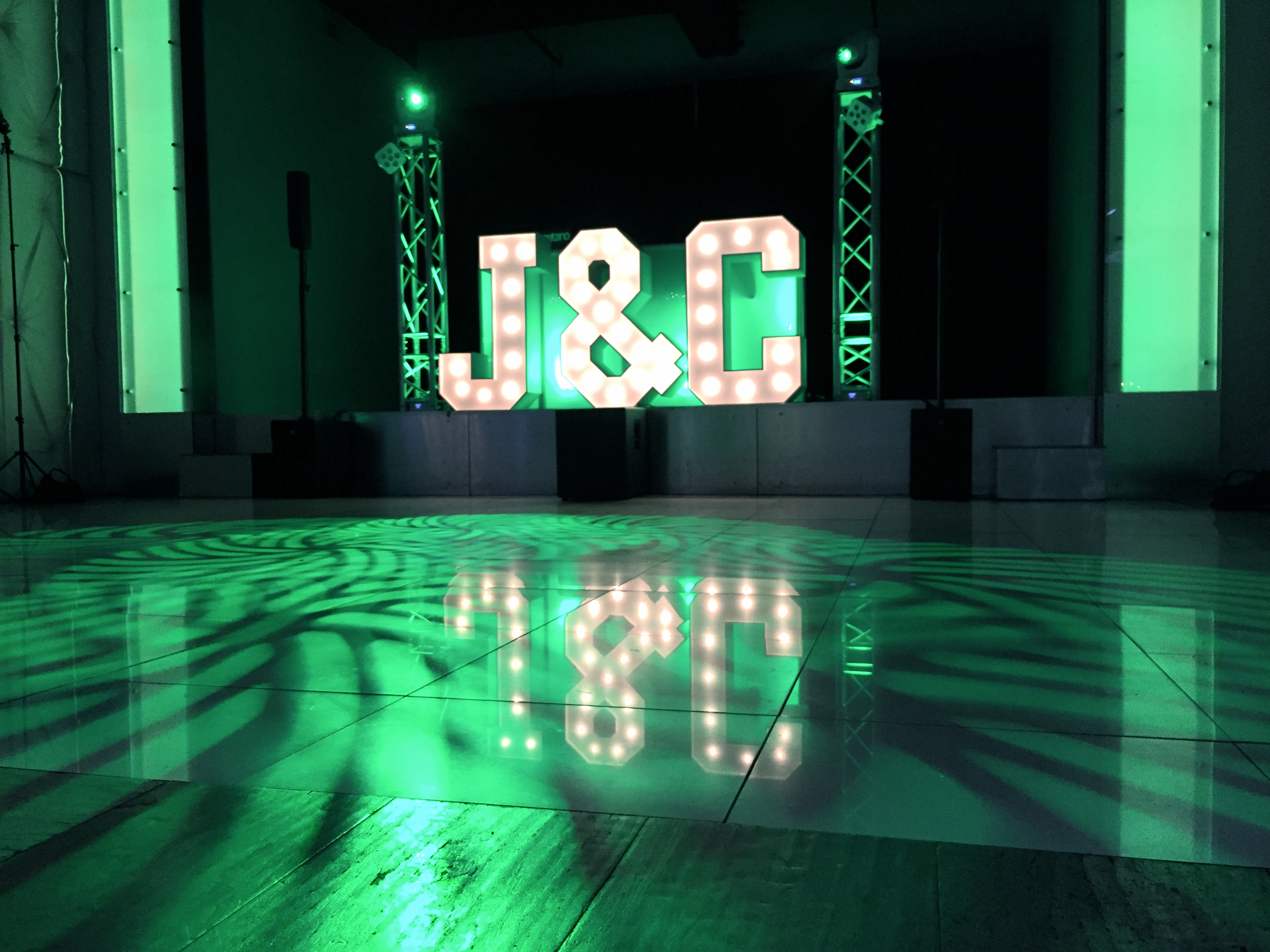 Tendenza, DJ Gaetano, Cescaphe Events, Lighting, Marquee lettering, Trussing,