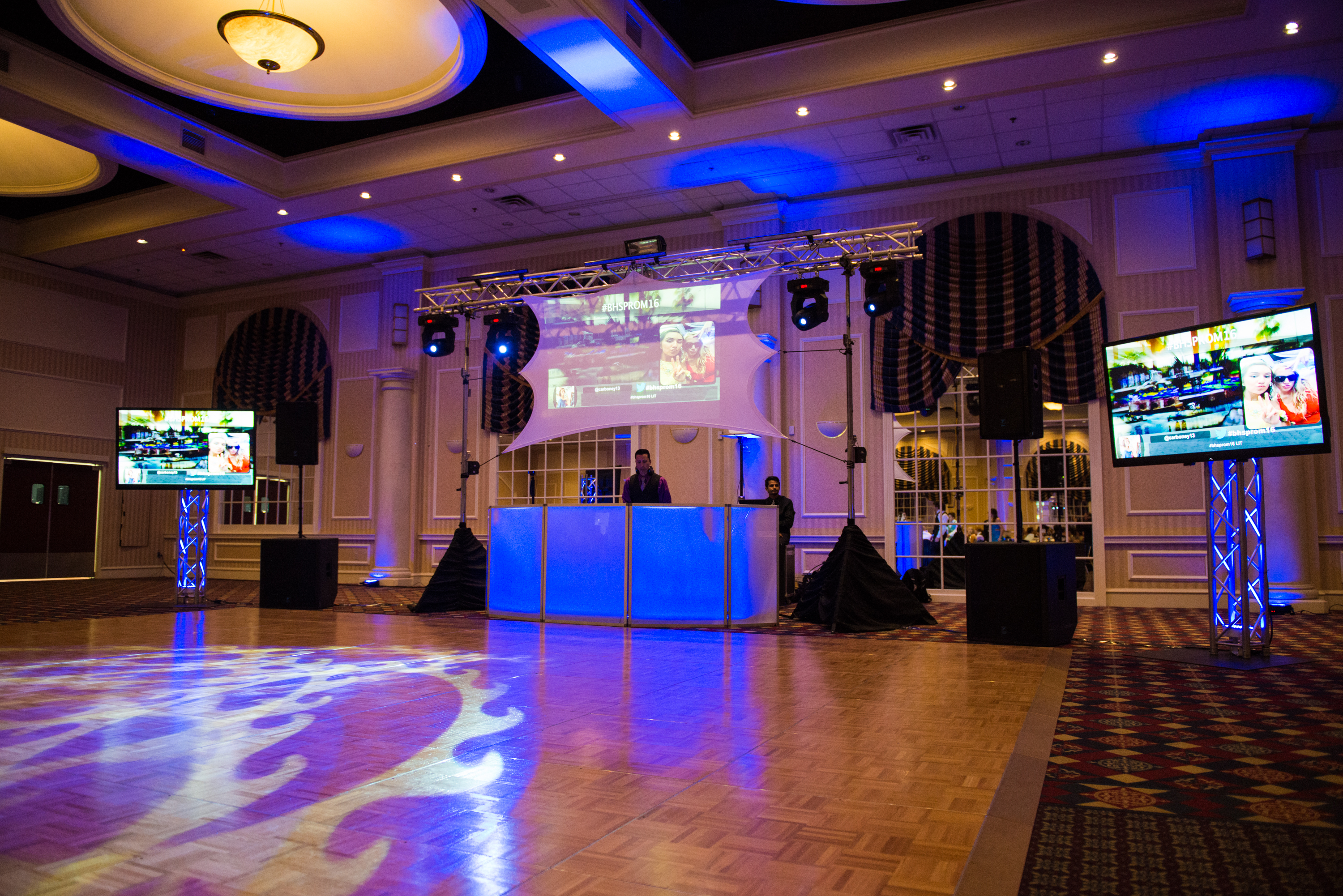 Chase Center Wilmington DE., Prom, DJ Gaetano Entertainment, Multi-media production, Lighting, Video